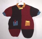 art textile mode sport salopette layette beret tricot : ensemble salopette et béret