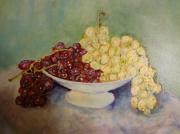 tableau fruits raisins : Coupe de raisins 46x38