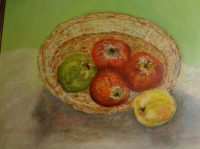 Panier de pommes renversées 46x38