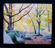 tableau paysages foret nature fontainebleau : fontainebleau