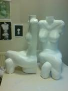 sculpture : bustine et mutine
