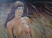tableau : nue dans la nature