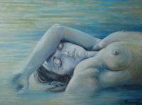 nue dans l'eau