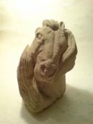 sculpture : tete de cheval