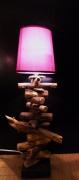 artisanat dart lampe bois flotte cadeau design : Viola