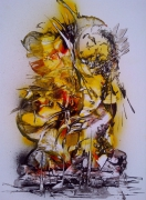 tableau marine mer abstrait contemporain : bord de mer