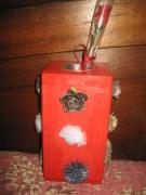 artisanat dart vase moderne naturel bois : Vase