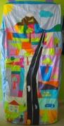 art textile mode paysages creation fait main patchwork senegal : KIT LIT DAVID HOCKNEY