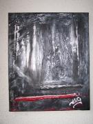 tableau abstrait noir et argent : Noir et Argent