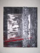 tableau abstrait noir argent et ardoises : Noir, Argent, Ardoises