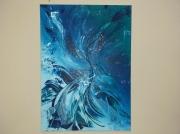 tableau abstrait moderne unique canar : Valkyrie