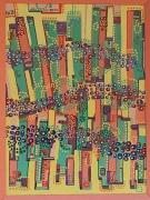 tableau abstrait : le labyrinte