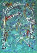 tableau abstrait : la tonnelle