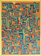 tableau abstrait labyrinte : le labyrinte