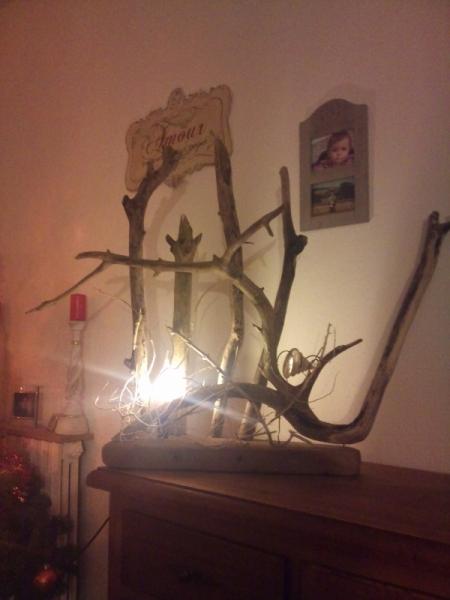 AUTRES lampe bois flotté Marine  - pure