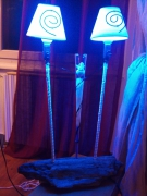 autres autres lampe bleu bois flotte : blue
