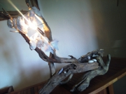 artisanat dart marine bois lampe coquillage : lueur bretonne
