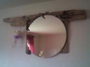 autres abstrait flotte miroir bois bougeoir : the circle
