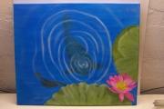 tableau animaux : tableau zen réalisé à l'aérographe (carpe koi)