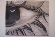 tableau personnages : l'œil d'une femme