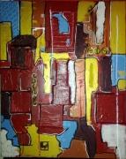 tableau abstrait abstrait relief moderne : modernité