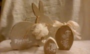 deco design animaux : lapin de paques