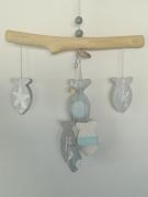 deco design marine poisson avril bois flotte : guirlande de bois flotté