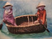 tableau personnages : Pêcheurs -Vietnam