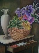 tableau nature morte fleur meubles : Malte