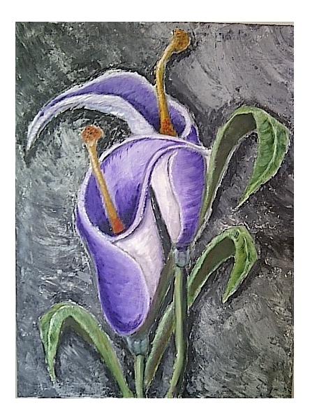 TABLEAU PEINTURE fleurs Fleurs Peinture a l'huile  - Brut