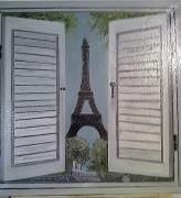 tableau villes tour eiffel volets : Paris