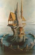 tableau menhir eglise moines mer : TRANSMUTATION DU MENHIR