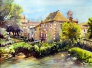 tableau paysages paysage riviere moulin st jean de cole : Le vieux moulin de St Jean de Côle