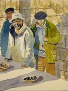 tableau personnages marche truffes personnages brantome : Au marché aux truffes