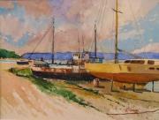 tableau marine marine bateaux bassin de radoub paysage : Bassin de radoub
