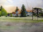 tableau paysages village ferme petit st pardoux brantome : Au Petit St Pardoux