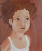 tableau personnages garcon innocence portrait jeune : Le petit garçon - The little boy