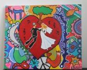 tableau abstrait mariage coeur arbre judaisme : Union eternelle