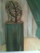 autres abstrait peinture huile : rien ne se perd .........