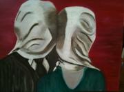 autres abstrait peinture huile : les amants2