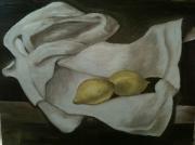 autres nature morte peinture huile : citrons