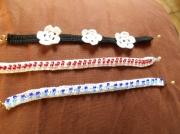 bijoux autres bracelet fait main coton perle : bracelet