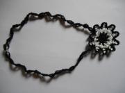 bijoux collier fait main crochet : collier
