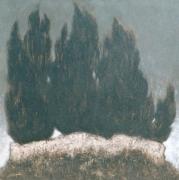 tableau les cypres art visionnaire toulon provence : Les cyprès