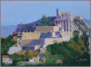 tableau paysages sisteron village citadelle : CITADELLE