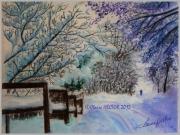 dessin paysages neige paysage chemin : NEIGE AU POET