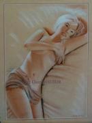 tableau nus dessin nues papier de couleur : REPOS