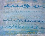 tableau abstrait : La lettre