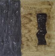 tableau abstrait : couleur café