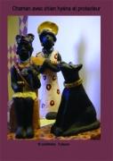 sculpture personnages chaman protecteur chienhyene afrique : CHAMAN